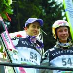 WCS 2001 Siegerehrung Martin Schmitt und Stephan Hocke