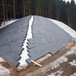 Schneeübersommerung (Styroporabdeckung)